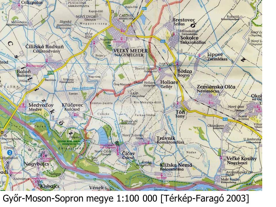 Győr-Moson-Sopron megye 1:100 000 [Térkép-Faragó 2003]